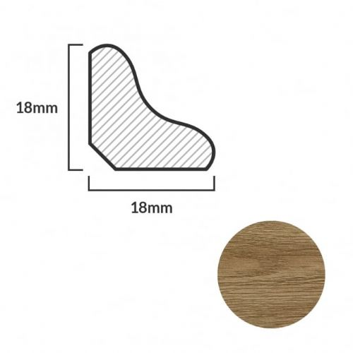 FC18 Scotia Beading For Laminate Flooring